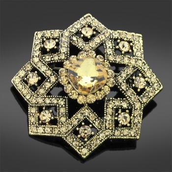Stoneset Floral Brooch
