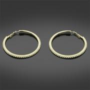 Stoneset Hoop Fashion Earrings