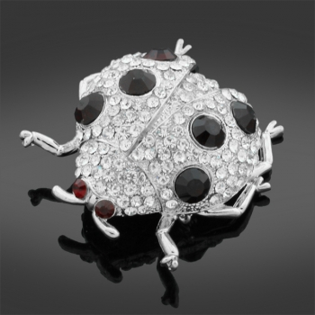 Ladybird Stoneset Brooch