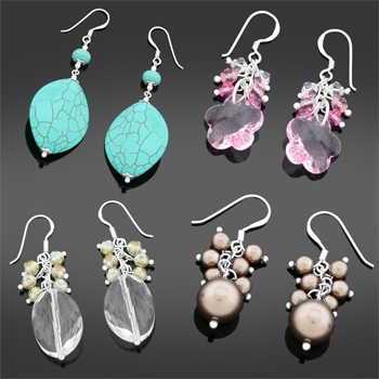 FREE Surprise Silver & Crystal Earrings