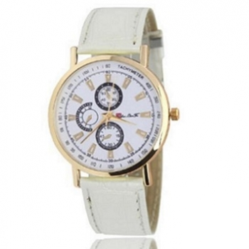 White Tachymeter Watch