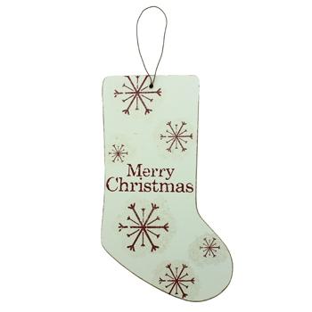 Wooden Christmas Stocking Decoration