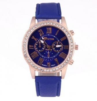 Beautiful Blue Geneva Womens Crystal Watch