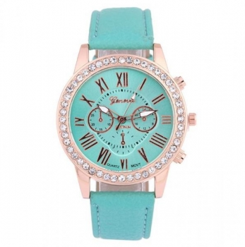 Beautiful Green Geneva Womens Crystal Watch