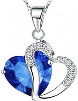 Blue Dangling Heart Pendant