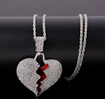 Silver Broken Heart Pendant