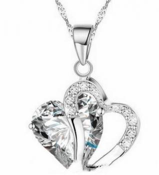 Clear Dangling Heart Pendant