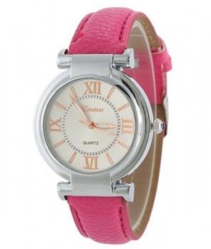 Elegant Geneva Women's Hot Pink Watch