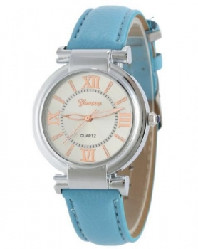 Elegant Geneva Women's Blue Watch