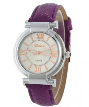 Elegant Geneva Women's Purple Watch