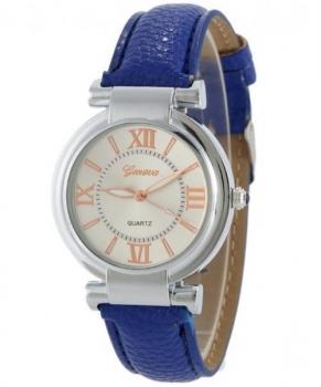 Elegant Geneva Women's Dark Blue Watch