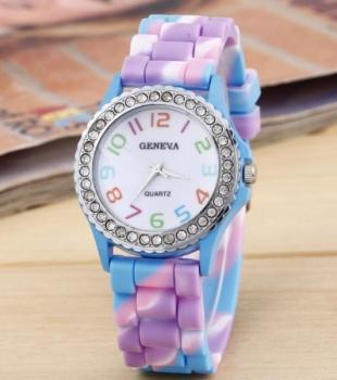 FREE Geneva Blue Rainbow Watch