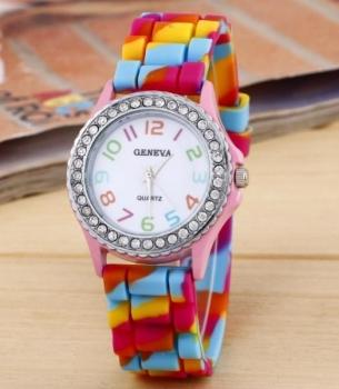 FREE Geneva Pink Rainbow Watch