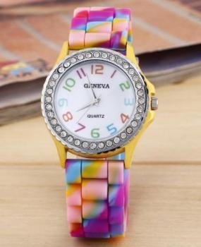 FREE Geneva Yellow Rainbow Watch