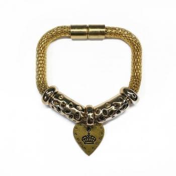 FREE Gold-plated Heart Charm Bracelet