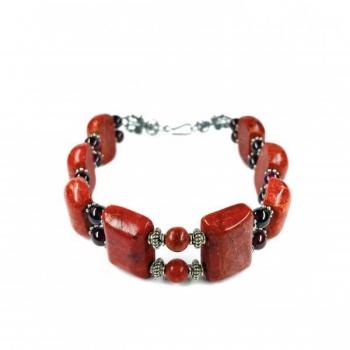 FREE Red Square Bead Bracelet