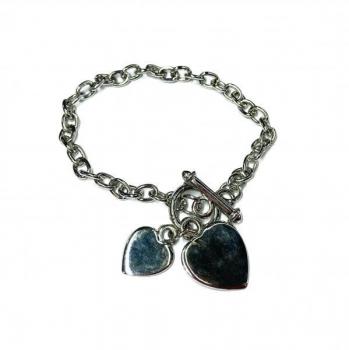 FREE Silver-plated Heart Charm Bracelet