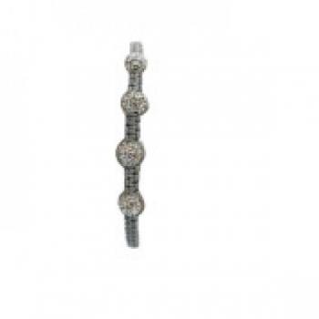 Four Bead Shambala Bracelets - Grey