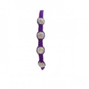 Four Bead Shambala Bracelets - Purple