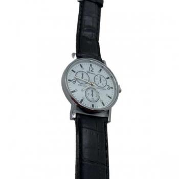 Geneva Black Strapped Watch
