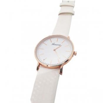 Geneva White Strapped Women's Watch