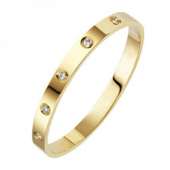 Gold Crystal Bangle