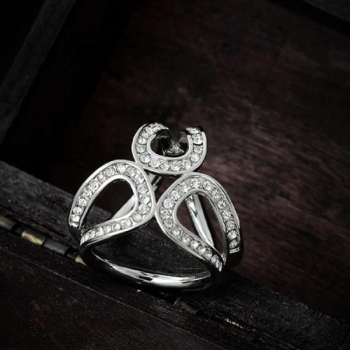 Luxury Silver Scarf Clip
