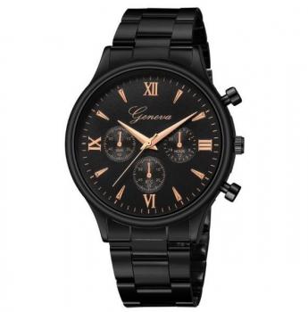 Men's Black Geneva Watch