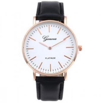 Men's Geneva Platinum Smart Faux Leather Watch