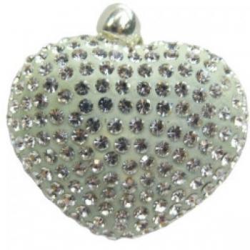 Mint Crystal Heart Pendant