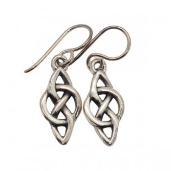 Silver Celtic Hook Earrings