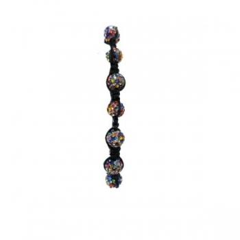 Small Beads Multi-Coloured Shambala Bracelet