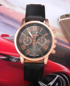 Women's Geneva Faux Leather Watch