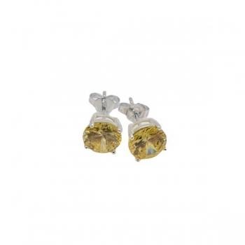 Yellow Crystal Stud Earrings